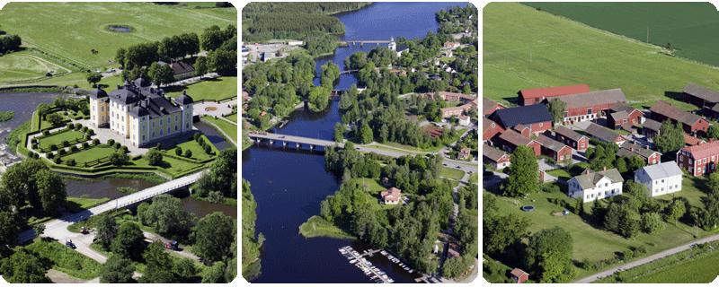 Strömsholms slott :: Västanfors vid Kolbäcksån :: Gårdsby vid Sala