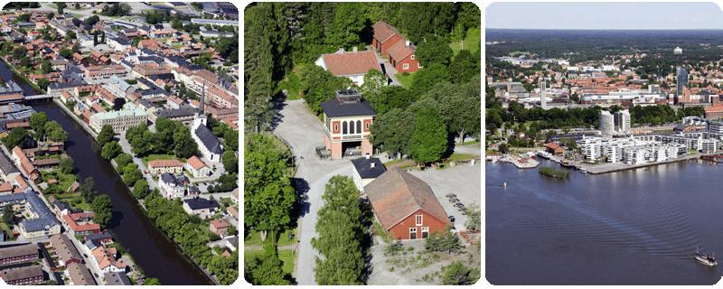Medeltidsstaden Arboga :: Sala silvergruva :: Västerås från Mälaren
